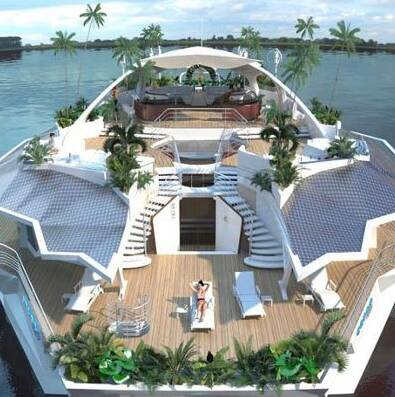 Like if you want a cocktail on this floating island.